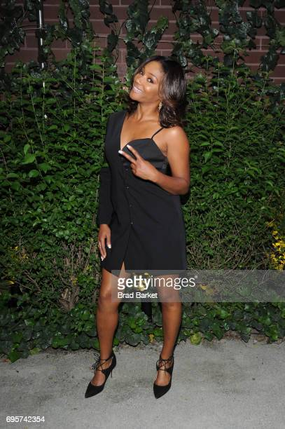 Comedian WIC Performer Tiffany Haddish attends as ELLE hosts Women In Comedy event with July Cover Star Kate McKinnon at Public Arts on June 13 2017...