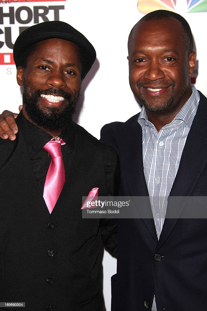 Comedian Wil Sylvince (L) and producer Jeff Friday attend the NBCUniversal's 8th annual 'Short Cuts Festival' grand finale held at DGA Theater on October 23, 2013 in Los Angeles, California.