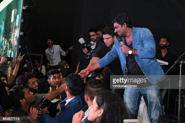 Comedian Zakir Khan during the seventh edition of Shri Ram College of Commerce Youth Conference to inspire students on September 23 2017 in New Delhi...