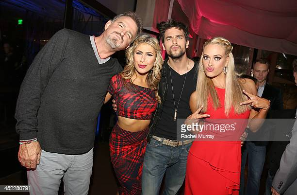 Comedian/actor Bill Engvall dancers Emma Slater Brant Daugherty and Peta Murgatroyd attend Dancing With The Stars Season 17 wrap party at Sofitel Los...
