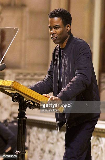 Comedian/actor Chris Rock attends the 2016 MLK Now at Riverside Church on January 18 2016 in New York City