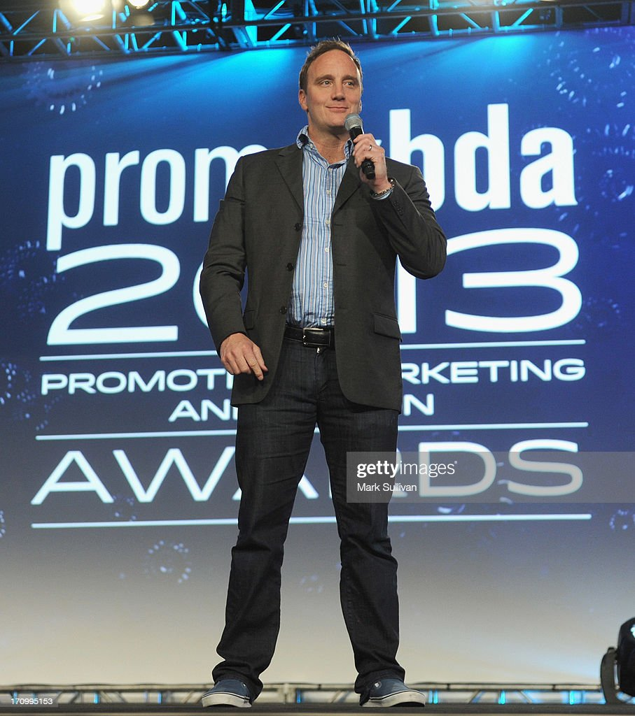 Comedian/actor Jay Mohr doing his standup comedy routine before hosting PromaxBDA Promotion, Marketing And Design Awards Show at JW Marriott Los Angeles at L.A. LIVE on June 20, 2013 in Los Angeles, California.