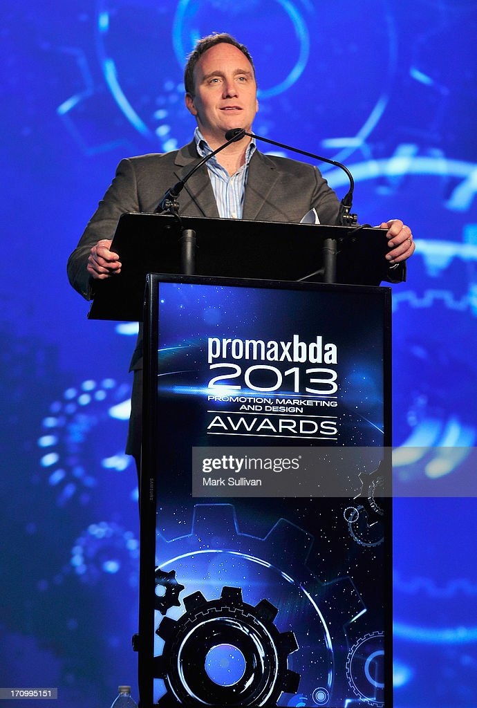 ANGELES, CA - JUNE 20, 2013 Comedian/actor Jay Mohr hosts the PromaxBDA Promotion, Marketing And Design Awards Show at JW Marriott Los Angeles at L.A. LIVE on June 20, 2013 in Los Angeles, California.