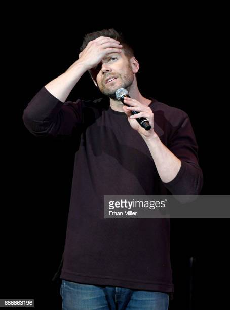 Comedian/actor Joel McHale performs his standup comedy routine at the Treasure Island Hotel Casino on May 26 2017 in Las Vegas Nevada