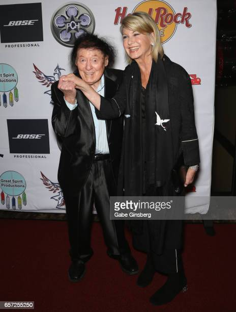 Comedian/actor Marty Allen and entertainer Olivia NewtonJohn attend the inaugural Las Vegas FAME Awards presented by the Producers Choice Honors at...
