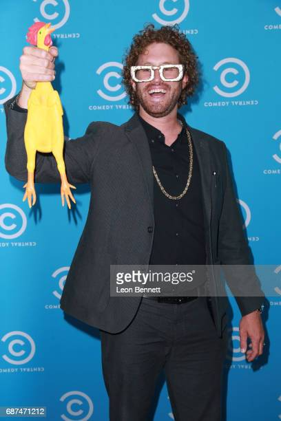 Comedian/actor TJ Miller attends Comedy Central's LA Press Day at Viacom Building on May 23 2017 in Los Angeles California