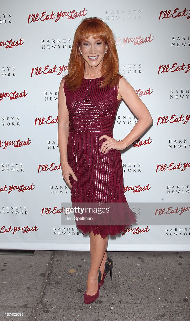 Comedian/actress <a gi-track='captionPersonalityLinkClicked' href=/galleries/search?phrase=Kathy+Griffin&family=editorial&specificpeople=203161 ng-click='$event.stopPropagation()'>Kathy Griffin</a> attends the 'I'll Eat You Last' Broadway Opening Night at the Booth Theatre on April 24, 2013 in New York City.