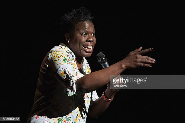 Comedian/actress Leslie Jones performs onstage during the Moontower Comedy Festival at The Paramount Theatre on April 23 2016 in Austin Texas