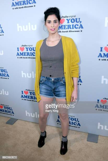 Comedian/actress Sarah Silverman attends photo op for Hulu's 'I Love You America' at Cheateau Marmont on October 11 2017 in Los Angeles California