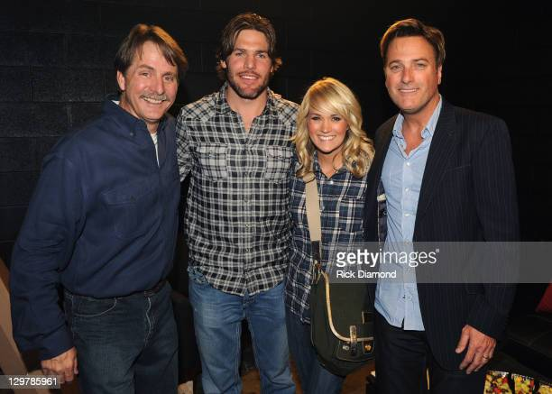 Comedian/Author Jeff Foxwotthy NHL Nashville Predator Mike Fisher and his Wife Singer/Songwriter Carrie Underwood with Singer/Songwriter Michael W...
