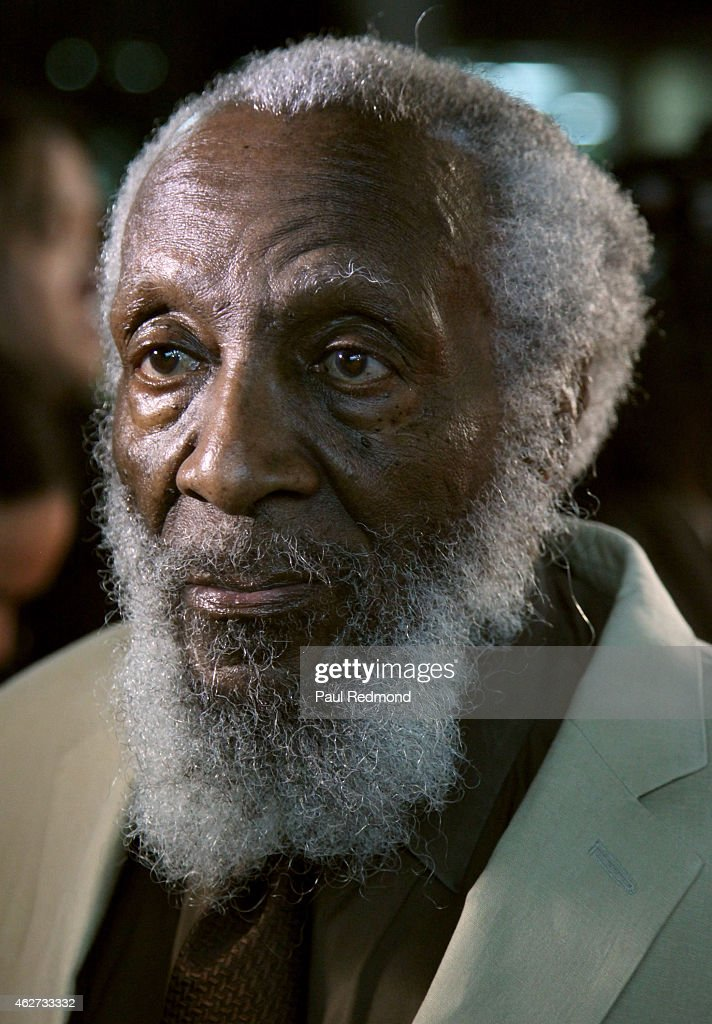 Comedian/civil rights activist <a gi-track='captionPersonalityLinkClicked' href=/galleries/search?phrase=Dick+Gregory+-+Activist&family=editorial&specificpeople=226818 ng-click='$event.stopPropagation()'>Dick Gregory</a> attends <a gi-track='captionPersonalityLinkClicked' href=/galleries/search?phrase=Dick+Gregory+-+Activist&family=editorial&specificpeople=226818 ng-click='$event.stopPropagation()'>Dick Gregory</a> & Friends Tribute and Toast at The Ricardo Montalban Theatre on February 3, 2015 in Hollywood, California.