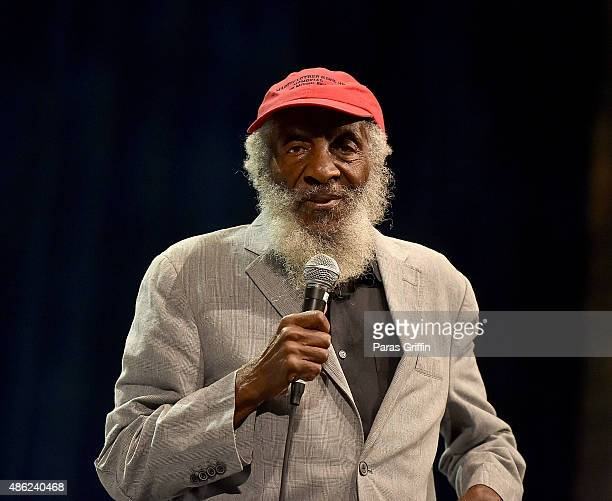 Comedian/civil rights activist Dick Gregory onstage at Georgia World Congress Center on August 29 2015 in Atlanta Georgia