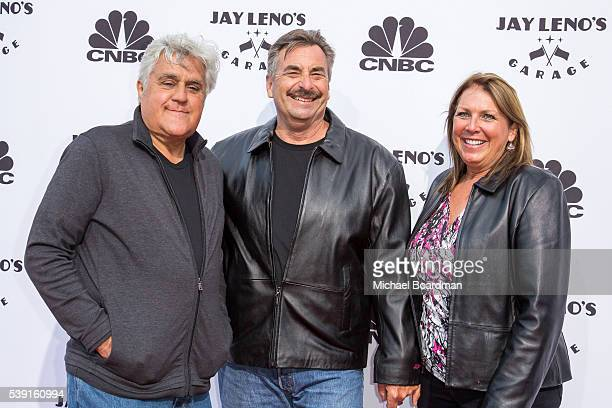 Comedian/Host Jay Leno and LAPD Chief Charlie Beck and wife Cindy Beck appears at the Premiere Of CNBC's 'Jay Leno's Garage' Season 2 Arrivals at the...