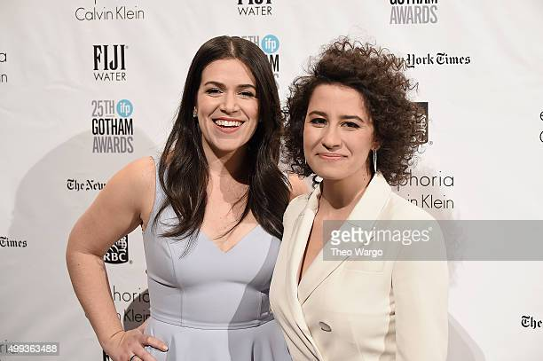 Comedians Abbi Jacobson and Ilana Glazer attend the 25th Annual Gotham Independent Film Awards at Cipriani Wall Street on November 30 2015 in New...