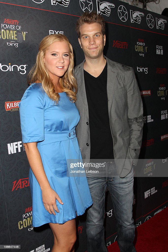 Comedians Amy Schumer and Anthony Jeselnik arrive at Variety's 3rd annual Power of Comedy event presented by Bing benefiting the Noreen Fraser Foundation held at Avalon on November 17, 2012 in Hollywood, California.