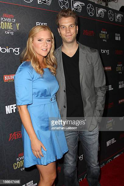 Comedians Amy Schumer and Anthony Jeselnik arrive at Variety's 3rd annual Power of Comedy event presented by Bing benefiting the Noreen Fraser...