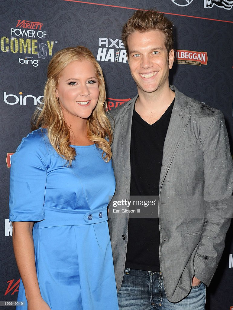 Comedians <a gi-track='captionPersonalityLinkClicked' href=/galleries/search?phrase=Amy+Schumer&family=editorial&specificpeople=4680682 ng-click='$event.stopPropagation()'>Amy Schumer</a> and Anthony Jeselnik arrive at Variety's 3rd annual Power of Comedy event presented by Bing benefiting the Noreen Fraser Foundation held at Avalon on November 17, 2012 in Hollywood, California.