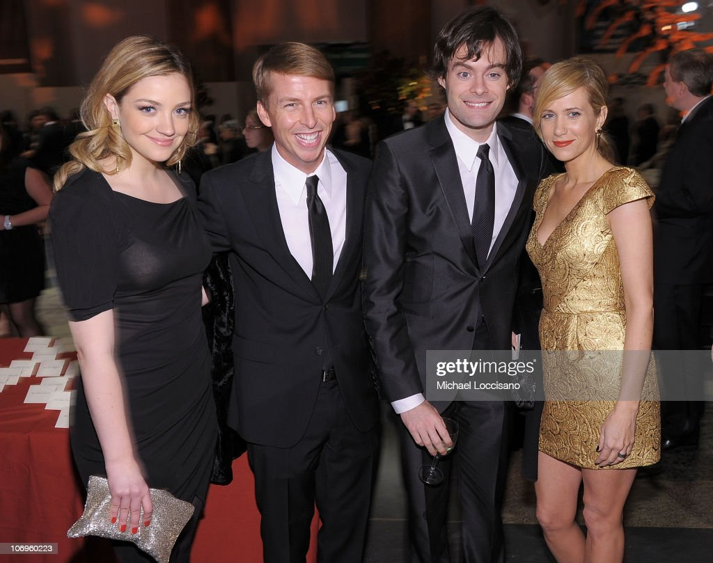 Comedians and actors Abby Elliott, Jack McBrayer, Bill Hader and Kristen Wiig attend the American Museum of Natural History's 2010 Museum Gala at the American Museum of Natural History on November 18, 2010 in New York City.