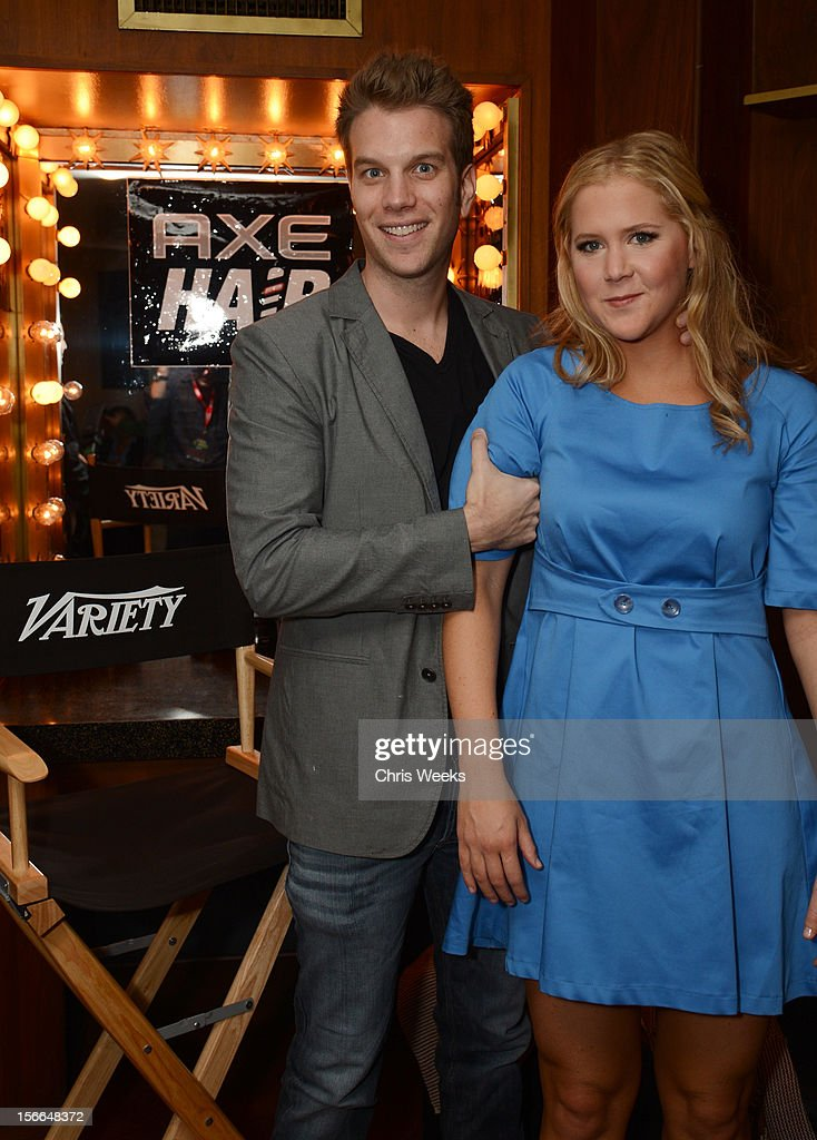 Comedians Anthony Jeselnik (L) and <a gi-track='captionPersonalityLinkClicked' href=/galleries/search?phrase=Amy+Schumer&family=editorial&specificpeople=4680682 ng-click='$event.stopPropagation()'>Amy Schumer</a> attend Variety's 3rd annual Power of Comedy event presented by Bing benefiting the Noreen Fraser Foundation held at Avalon on November 17, 2012 in Hollywood, California.