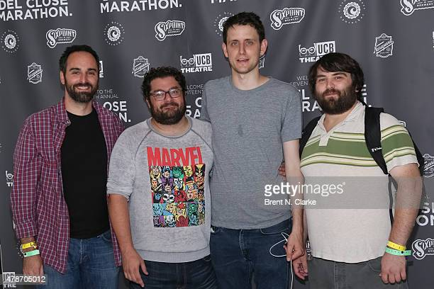 Comedians Anthony King Bobby Moynihan Zach Woods and John Gemberling arrive for the 17th Annual Del Close Improv Comedy Marathon cocktail reception...