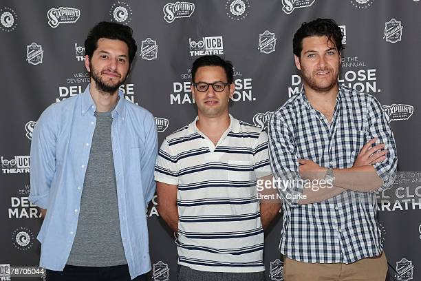 Comedians Ben Schwartz and Adam Pally arrive for the 17th Annual Del Close Improv Comedy Marathon cocktail reception held at Sun West Studios on June...