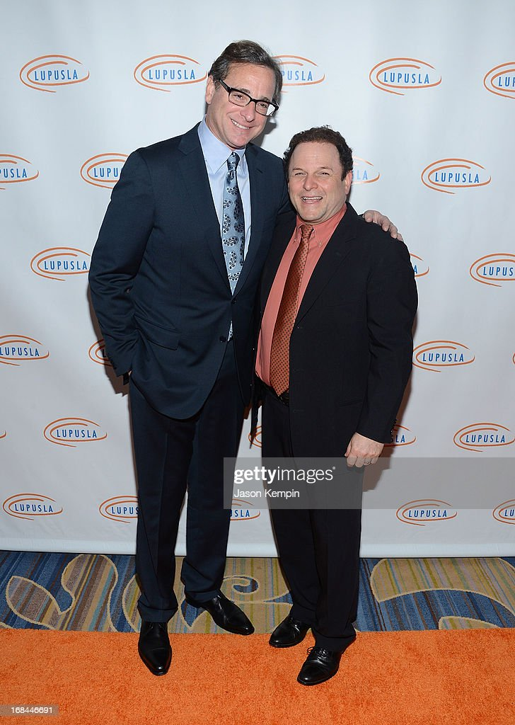 Comedians <a gi-track='captionPersonalityLinkClicked' href=/galleries/search?phrase=Bob+Saget&family=editorial&specificpeople=209388 ng-click='$event.stopPropagation()'>Bob Saget</a> and <a gi-track='captionPersonalityLinkClicked' href=/galleries/search?phrase=Jason+Alexander+-+Actor&family=editorial&specificpeople=11399423 ng-click='$event.stopPropagation()'>Jason Alexander</a> attend the 13th Annual Lupus LA Orange Ball at the Beverly Wilshire Four Seasons Hotel on May 9, 2013 in Beverly Hills, California.
