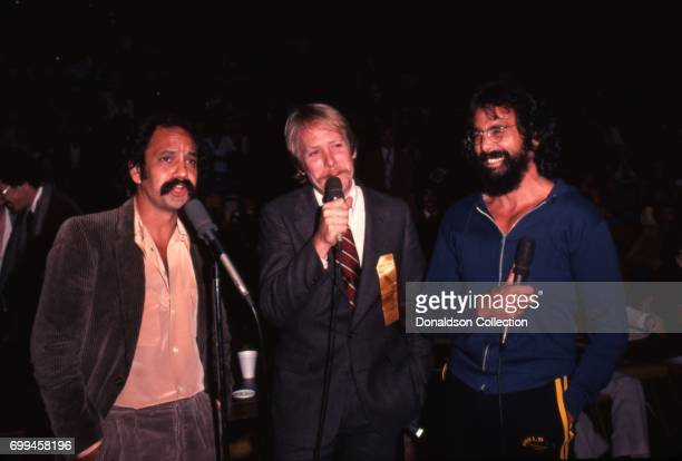 Comedians Cheech Marin Martin Mull and Tommy Chong perform onstage in November 1979 in Los Angeles California