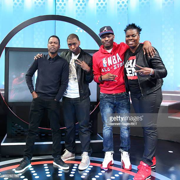 Comedians Chris Rock Jay Pharoah Michael Che and Leslie Jones attend 106 Park at BET studio on December 8 2014 in New York City