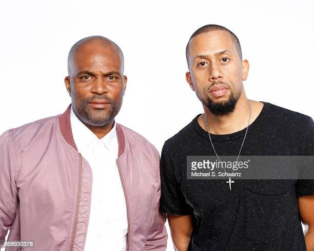 Comedians Chris Spencer and Affion Crockett pose during their appearance at The Ice House Comedy Club on October 7 2017 in Pasadena California