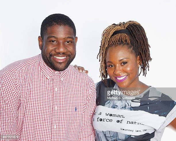 Comedians Clint Coley and Torrei Hart pose during their attendance at The Ice House Comedy Club on October 22 2014 in Pasadena California