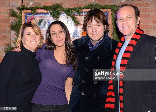 Comedians Cynthia Koury Rachel Feinstein Dave Hill and Tom Papa attend comedian Tom Papa's special Christmas edition of SirusXM's 'Come To Papa' his...