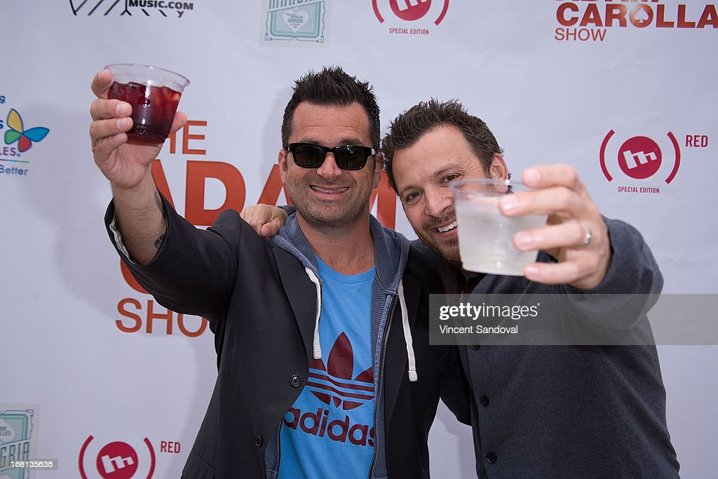 Comedians Dan Dunn and Zane Lamprey attend the Cinco De Mangria party benefiting Children's Hospital Los Angeles on May 5, 2013 in Malibu, California.