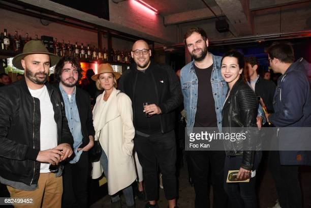 Comedians Eric Metzger and Quentin Margot and guests attend Foodstock 10th Anniversary Concert Party at Grand Rivage on May 12 2017 in Paris France
