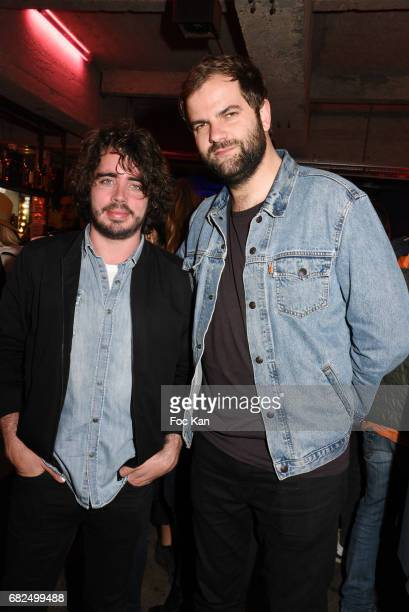 Comedians Eric Metzger and Quentin Margot attend Foodstock 10th Anniversary Concert Party at Grand Rivage on May 12 2017 in Paris France