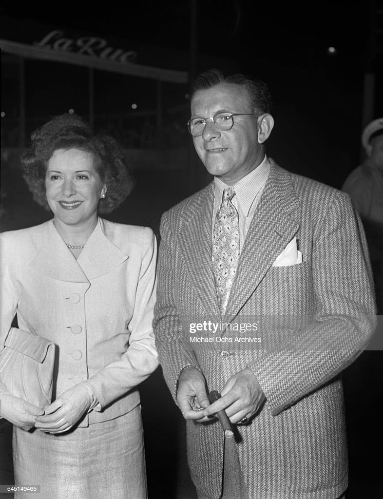 Comedians George Burns and Gracie Allen arrive at La Rue in Los Angeles California
