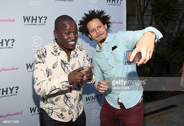 Comedians Hannibal Buress and Eric Andre attend the Comedy Central's 'Why With Hannibal Buress' Premiere Event held at Smogshoppe on July 8 2015 in...