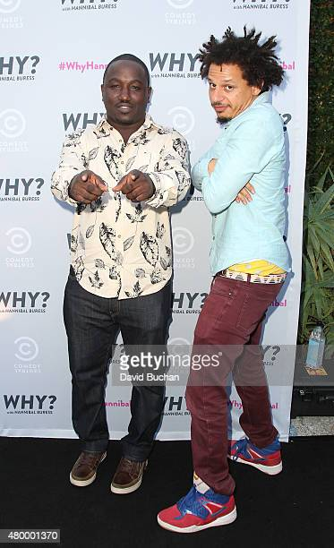 Comedians Hannibal Buress and Eric Andre attend the Premiere of Comedy Central's 'Why With Hannibal Buress' at Smogshoppe on July 8 2015 in Los...