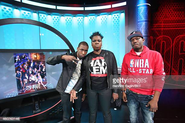Comedians Jay Pharoah Leslie Jones and Michael Che attend 106 Park at BET studio on December 8 2014 in New York City