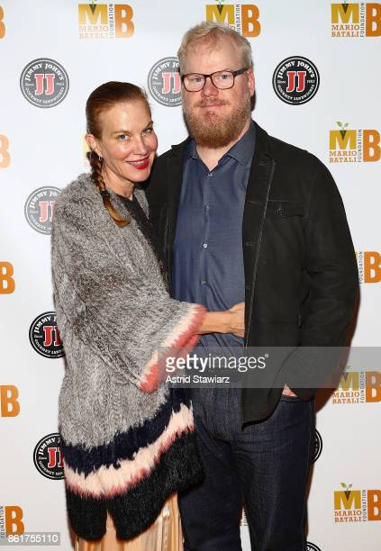 Comedians Jeannie Gaffigan and Jim Gaffigan attend 6th Annual Mario Batali Foundation Honors dinner at Del Posto on October 15 2017 in New York City