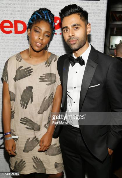 Comedians Jessica Williams and Hasan Minhaj attend BuzzFeed Presents 'Red White Banned' at Brixton on April 29 2017 in Washington DC