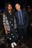 Comedians Jessica Williams and Trevor Noah attend the Comedy Central Live 2016 upfront afterparty at Gotham Hall on March 31 2016 in New York City