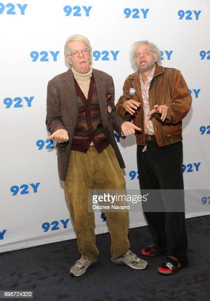 Comedians John Mulaney and Nick Kroll attend 92Y Presents 'Oh Hello On Broadway' at 92nd Street Y on June 13 2017 in New York City