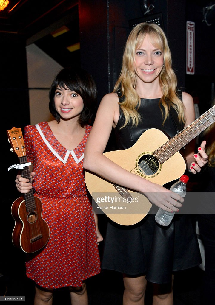 Comedians Kate Micucci (L) and Riki Lindhome attend Variety's 3rd annual Power of Comedy event presented by Bing benefiting the Noreen Fraser Foundation held at Avalon on November 17, 2012 in Hollywood, California.