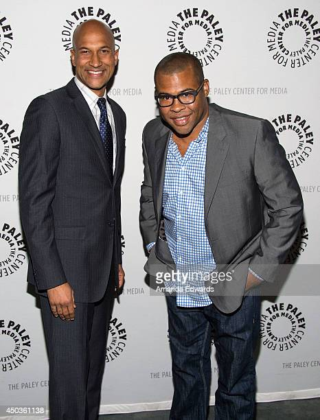 Comedians KeeganMichael Key and Jordan Peele arrive the Paley Center for Media's Key Peele In Conversation With Patton Oswalt event at The Paley...