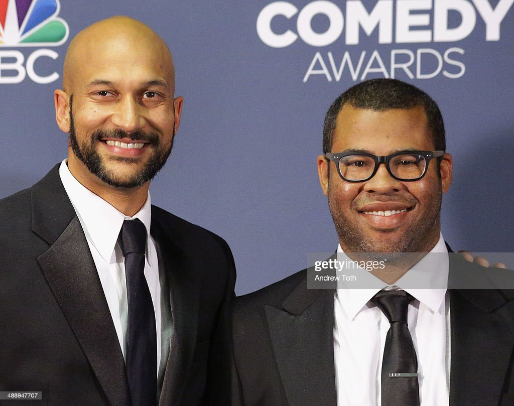 Comedians Keegan-Michael Key (L) and Jordan Peele attend the 2014 American Comedy Awards at Hammerstein Ballroom on April 26, 2014 in New York City.