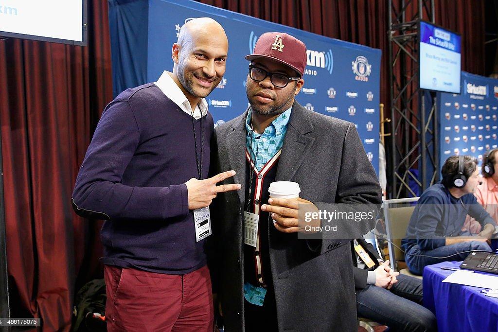 Comedians Keegan-Michael Key (L) and Jordan Peele of 'Key and Peele' attend SiriusXM's Comedy Central Radio at Super Bowl XLVIII Radio Row on January 31, 2014 in New York City.