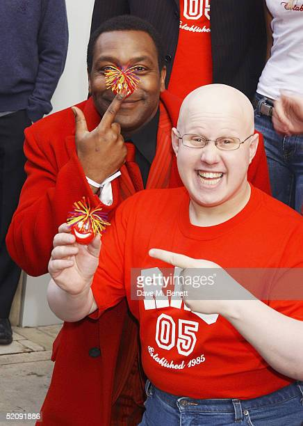 Comedians Lenny Henry and Matt Lucas attend the 'Comic Relief Press Launch' at The Hospital Project on February 1 2005 in London This year's event...