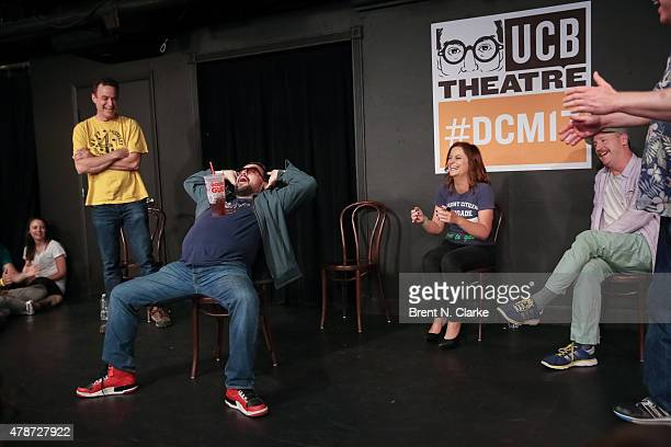 Comedians Matt Besser Horatio Sanz Amy Poehler Matt Walsh and Ian Roberts perform on stage during the 17th Annual Del Close Improv Comedy Marathon...