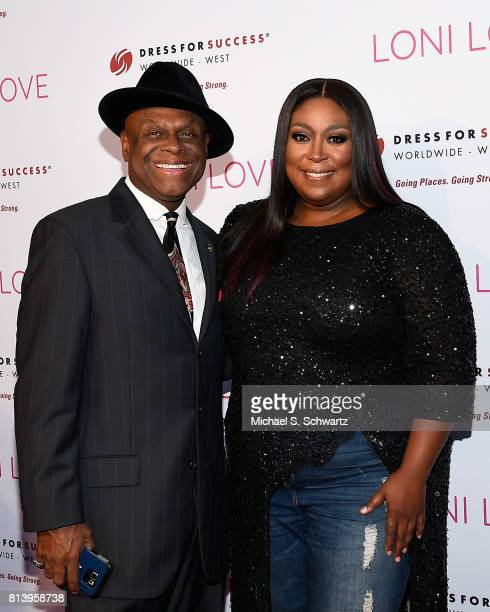 Comedians Michael Colyar and Loni Love attend Loni Love's Birthday Roast benefiting the Dress For Success charity at Hollywood Improv on July 12 2017...
