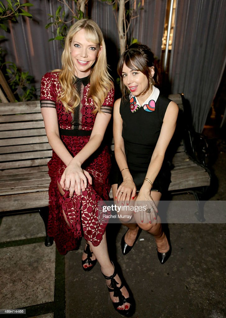 Comedians Riki Lindhome and Natasha Leggero attend the Comedy Central Emmys after party at Boulevard3 on September 20 2015 in Hollywood California